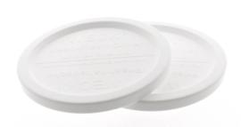 Woerkom's plastic afsluitdeksel weckpot 80 mm (voor fruitbeleg, stroopsoorten en chutney)