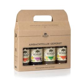 Schulp LEGE kartonnen cadeau verpakking (voor 4 kleine flesjes)