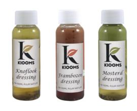 Probeer pakketje Kiooms dressings 3x100 ml.