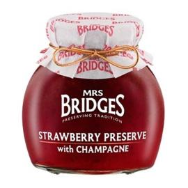 Mrs Bridges Jam met aardbeien en Champagne