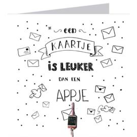 Kaart + Enveloppe: Een Kaartje is Leuker dan een Appje