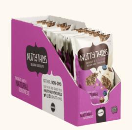 BARÚ 12 x 50 gram Nutty Thins Milk Chocolate Granola & Blueberry