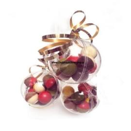 ChocoladeBikkels 1 Kerstbal met 10 stuks