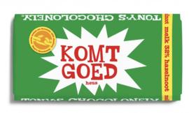 Tony's Chocolonely Hazelnoot met Komt Goed label