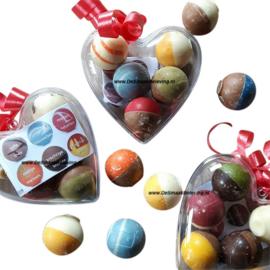 ChocoladeBikkels 1 hart met 8 stuks