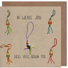 Kaart + Enveloppe: Ik Wens jou heel veel Geluk toe!