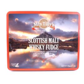 Mrs Tilly's Malt whiskey fudge gift tin