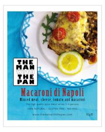 (THT 22-11)  The MAN with the PAN Spice Blend kruidenmix Macaroni Di Napoli