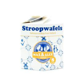 Stroopwafel & Co Delfts blauw kartonnen verpakking met Stroopwafels