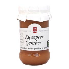 BIO Kweepeer Gember compote Mariënwaerdt