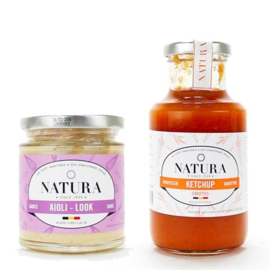 Natura Belgische sauzen, mayonaises, ketchups en vinaigrettes