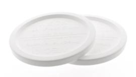 Woerkom's plastic afsluitdeksel weckpot 100 mm. 1 stuk  (voor potten van 385 gram)