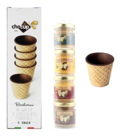 ChoCup 5 pack + Kado koker advocaatjes
