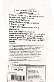 Custers Cakemix Aardbei Roomsmaak 500 gram