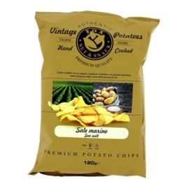 Fox Vintage Potatoes Chips Zeezout 120 gram