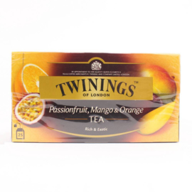 Twinings Passievrucht Mango Orange 25 st. (zwart)