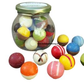 ChocoladeBikkels Glazen potje met 16 stuks