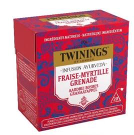 Twinings Thee Ayurveda Aardbei, Bosbes & Granaatappel