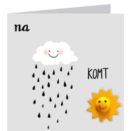 Kaart + Enveloppe: Na Regen komt Zonneschijn