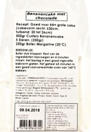 Custers Bananencake met Chocolade 500 gram