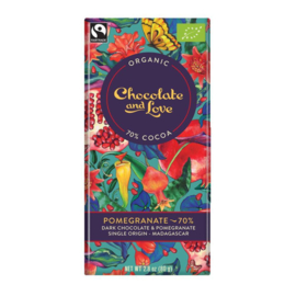 BIO Chocolate and Love Pomegranate Dark 70% 80 gram