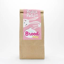 Concept Unie Paasbrood in zak