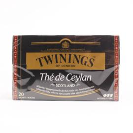 Twinings Thee Ceylon Scotland 20 st. (zwart)
