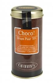 Granny's chocodrups puur 75%