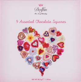 Dolfin 9 Chocolade Love vierkantjes