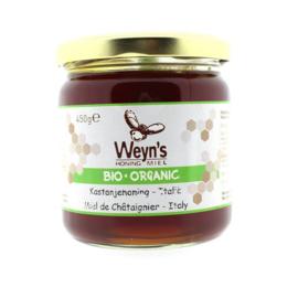 Weyn's BIO Kastanje Honing 450 gram (vloeibaar)