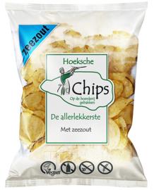 Hoeksche Chips Naturel met Zeezout DOOS 10 zakken