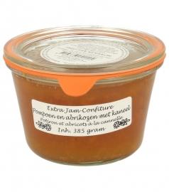 Woerkom's pompoen, abrikozen met kaneel confituur