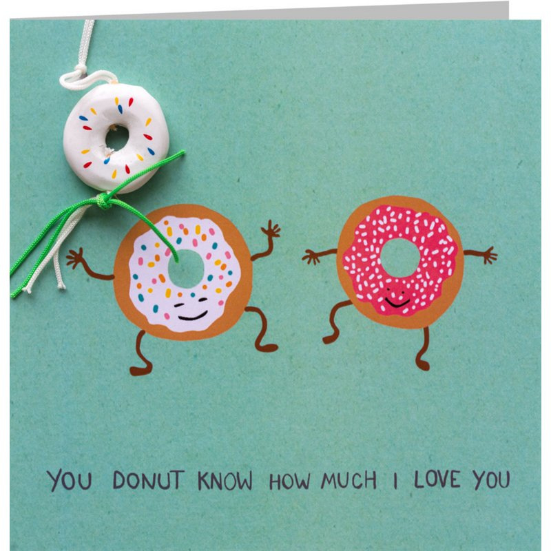 Kaart + Enveloppe: You Donut How Much I Love You!