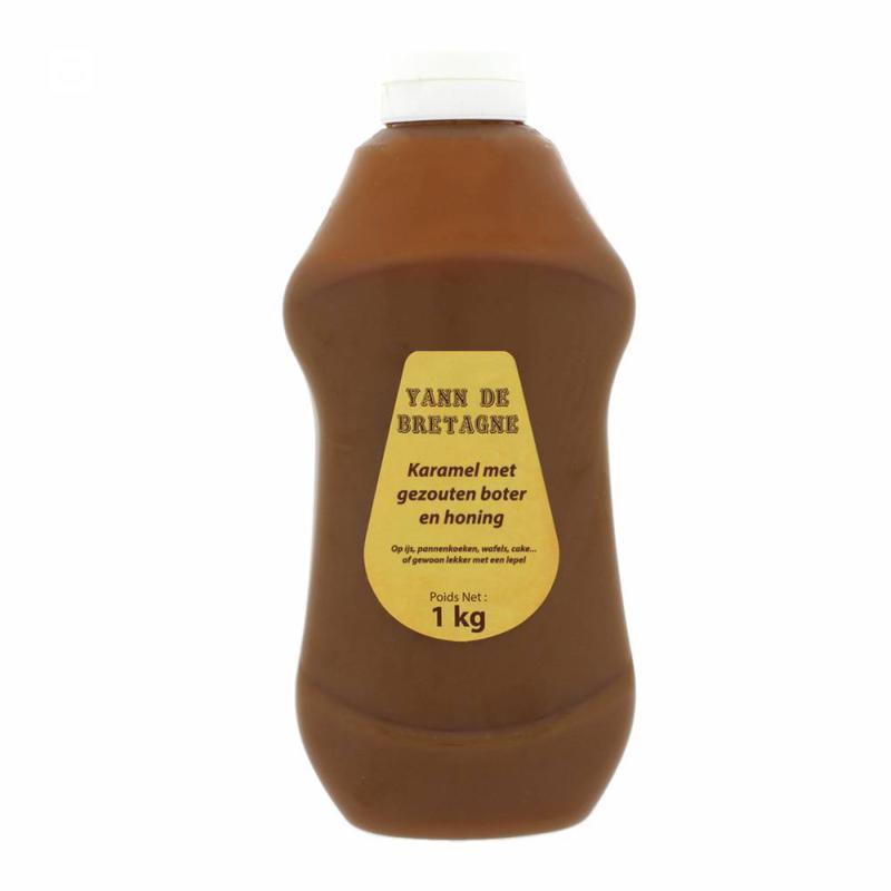 Yann de Bretagne Karamel met zeezout en honing (1 liter)