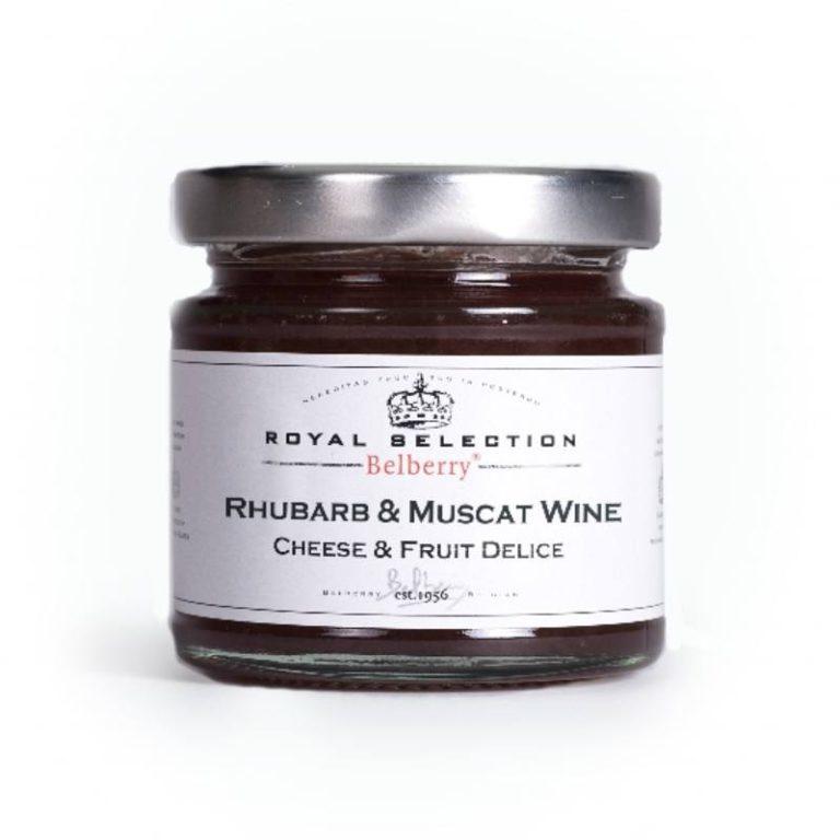 Belberry Rabarber en Muscat Wijn Kaasbegeleider