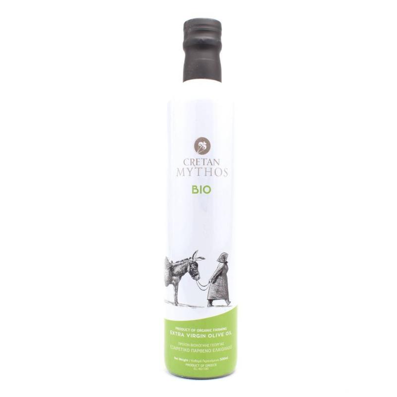 Cretan Mythos biologische olijfolie in Dorica fles 500 ml.