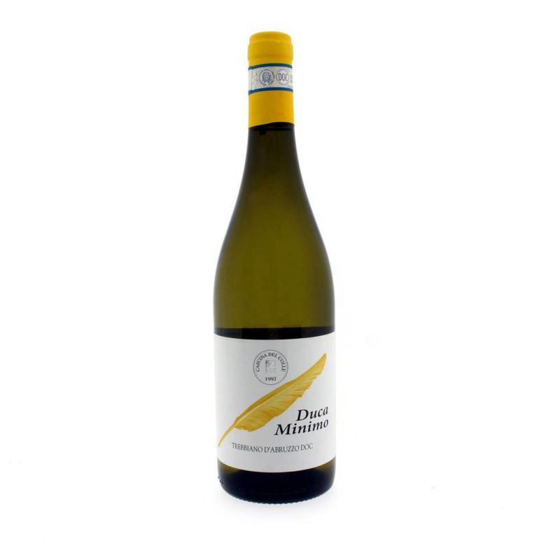 Wijn Wit Ducaminimo Trebbiano D'Abruzzo D.O.C. (Italië)