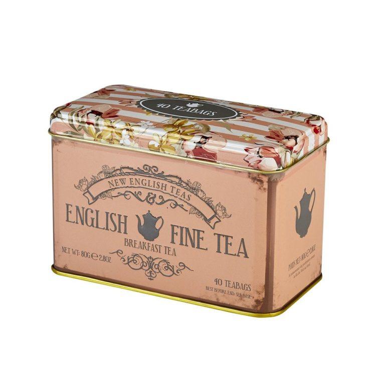 New English Tea Grey Fine Tea 40 zakjes in blikje