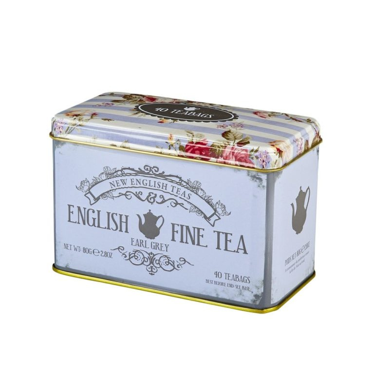 New English Tea Earl Grey Fine Tea 40 zakje in blikje