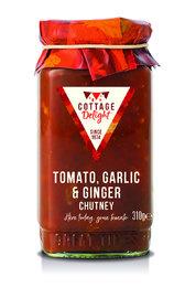 Cottage Delight Tomaten, Knoflook & Gember Chutney