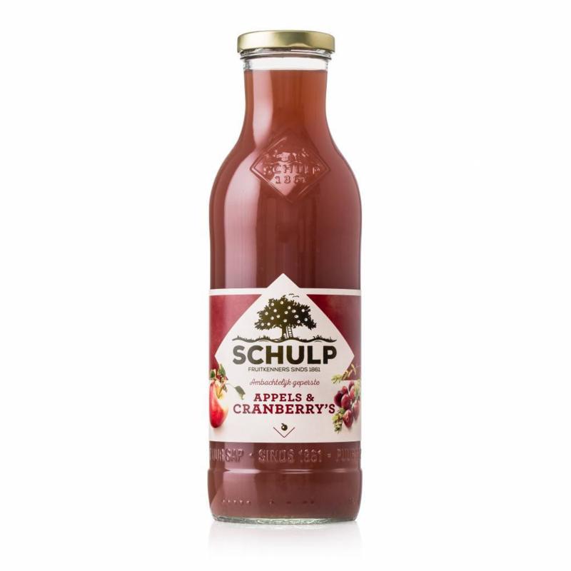 Schulp  Appel-cranberry sap 0,75 liter
