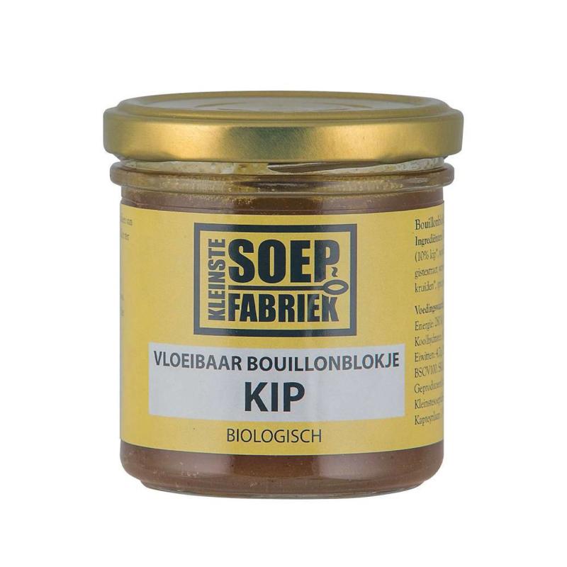 Vloeibaar Bouillonblokje Kip BIO Kleinste Soepfabriek