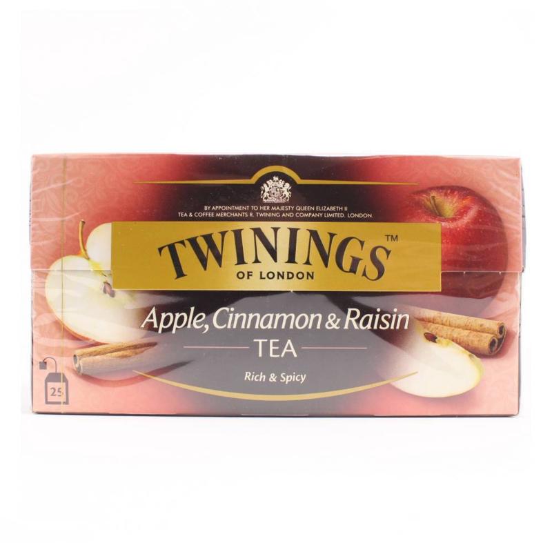 Twinings Thee Appel Kaneel Rozijnen 25 st. (zwart)