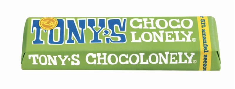 Tony's Chocolonely KLEINE Puur Amandel Zeezout