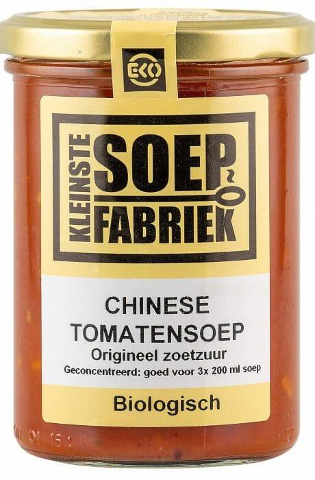 BIO Chinese Tomatensoep van Laurie Kleinste Soepfabriek