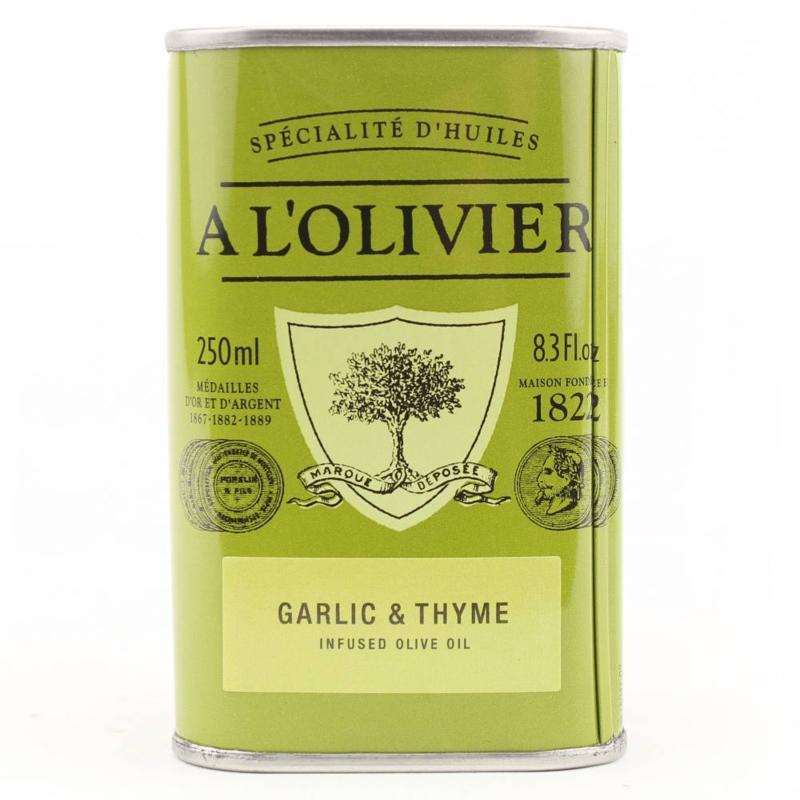 A L'olivier Olijfolie Extra Vergine Knoflook & Thijm