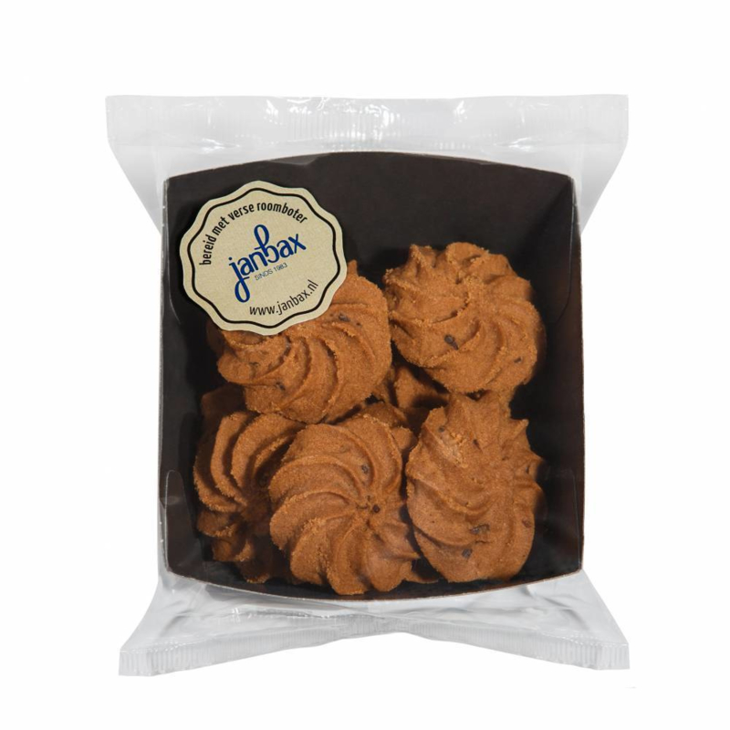 Jan Bax Roomboterkoekjes Chocolade Rozetten
