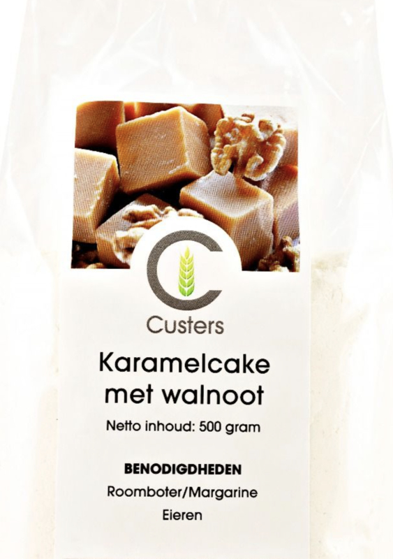Custers Karamelcake met Walnoot 500 gram
