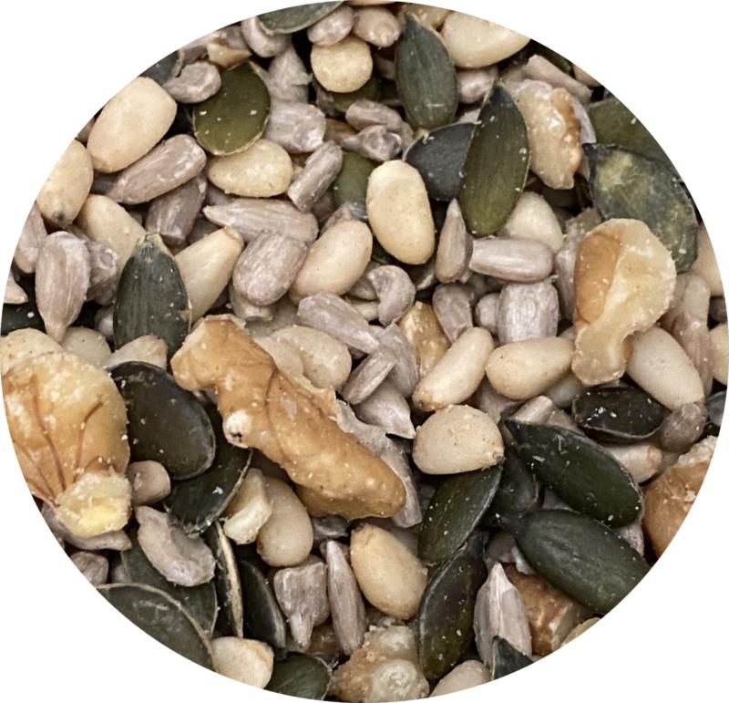 2 potjes Pittenmix variant 1 voor door de salade (lees de omschrijving)
