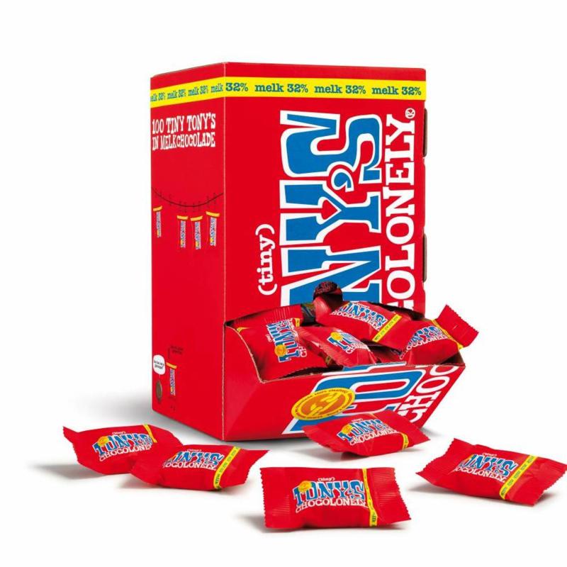 Tony's Chocolonely Doos vol Mini's melk 100 stuks